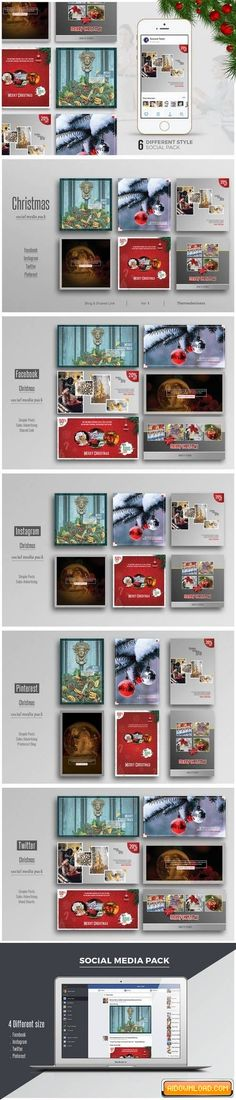 Christmas Social Media Pack Free Download | Free Graphic Templates, Fonts, Logos & Icons, PSD, AI
