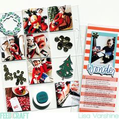 December Daily pages by Lisa Varshine (Comfort and Joy kit designed by Brandi Kincaid)