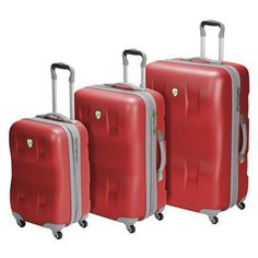 My husband bought these a few years ago & we LOVE them. Never had any issues with them at all. Heys USA Eco Case 3 Piece Luggage Set (Red)