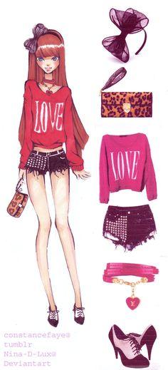 Ideas For Fashion Ilustration Marker Deviantart Fashion Art, Love Fashion, Trendy Fashion, Fashion Models, Autumn Fashion, Fashion Design, High Fashion, Fashion Show Party, Fashion Project