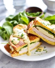 Turkey and Mozzarella Monte Christo Sandwiches with Maple Mustard Sauce are perfect for breakfast, lunch or dinner! | www.cookingandbeer.com