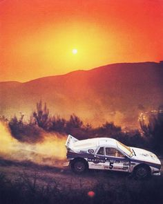 Lovely vintage sunset