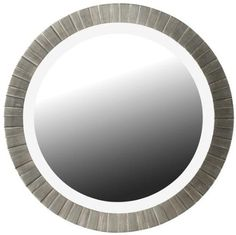 "Amazon.com: Montgomery Wall Mirror, 36"" ROUND, ANTIQUE SILVER: Kitchen & Dining"