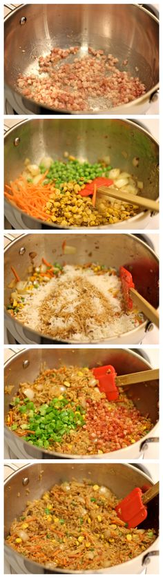 Pancetta Fried Rice - A quick and easy weeknight dish that the whole family will love!