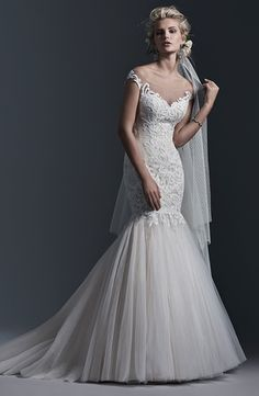 Sottero & Midgley - Tip of the Shoulder Mermaid Gown in Lace