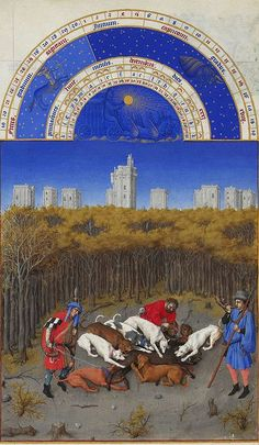 The month of December in The Très Riches Heures du Duc de Berry (or simply the Très Riches Heures), probably the most important illuminated manuscript of the 15th century.  www.artexperiencenyc.com