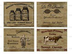 Free Primitive Print Labels | Primitive Farmhouse Pantry Labels on CD CD 2 | eBay