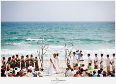 branches altar beach ceremony