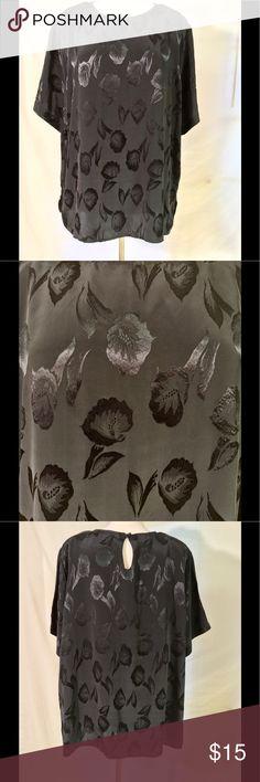 💰CLEARANCE‼️STUDIO C II vintage blouse Studio C II vintage blouse, black, shoulder pads, size 24, has small snag shown in picture STUDIO C II Tops Blouses