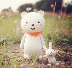 Ordinary Bear & Naughty Rabbit figure by Fluffy House, produced by Fluffy House. Front view.