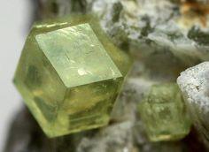 Green Grossular garnet crystal