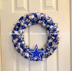 Dallas Cowboys Football Wreath Cyber Sale Gifts for him image 0 Dallas Cowboys Wreath, Dallas Cowboys Gifts, Football Wreath, Dallas Cowboys Football, Football Team, Sports Wreaths, Mesh Wreaths, Cowboy Christmas, Christmas Diy