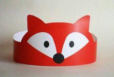 fox hat craft for kids (Diy Paper Crown) Kids Crafts, Fox Crafts, Animal Crafts, Diy And Crafts, Arts And Crafts, Kids Diy, Crown Printable, Printable Paper, Decoration Creche