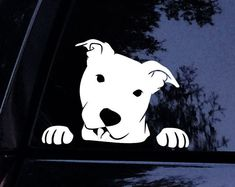 Items similar to PIT Mom Portrait Like Graphic Decal - Pit bull Pitbull Dog Puppy Vinyl Car Decal Laptop Decal Car Window Yeti Sticker on Etsy Shelter Dogs, Rescue Dogs, Pitbulls, Rottweilers, Pitbull Dog Puppy, Yeti Stickers, Bull Tattoos, Dog Necklace, Dog Silhouette