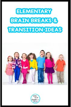 Elementary School Brain Breaks and Transition Activities you can easily do without any prep. Get the creative and easy to implement ideas in this blog post from Sandra at Sing Play Create. Kindergarten Music Lessons, Preschool Music Activities, Elementary Music Lessons, Teaching Kindergarten, Teaching Music, Elementary Education, Classroom Teacher, Primary Classroom, Classroom Management Songs