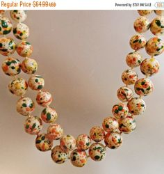 This #vintage Selini paint splatter two strand necklace is just lovely and…