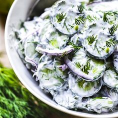 Turkish Cucumber Salad with Dill and Mint