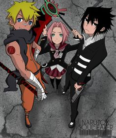 Nice Crossover with Naruto and Soul Eater