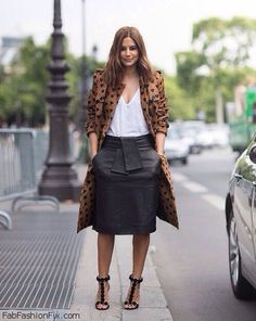 Style Guide: How to style and wear leather skirt this fall? | Fab Fashion Fix