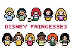 Disney Princesses Cross Stitch Pattern PDF by XStitchMyHeart