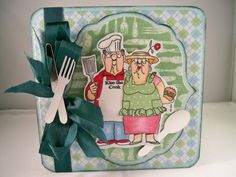 BBQ couple sku # CS3464 Golden Oldies from Art Impressions