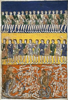 Commentary on the Apocalypse (Commentaria In Apocalypsin) was written in Spain by Beatus of Liébana in the 8th century.  There are about thirty extant copies of the commentary in illuminated manuscript format, the earliest being from the 9th century. One of the later versions is the Rylands Beatus from the 12th century,
