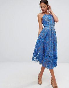 Warehouse | Warehouse Lace Halter Midi Dress