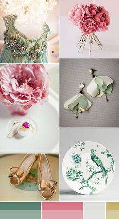 shades of jade and peony pink palette  Exactly what i want my color pallette to be!!!