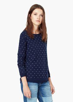 Pullover mit punktemuster - Cardigans und pullover für Damen | MANGO