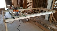 Router Sled Table to Flatten Slabs