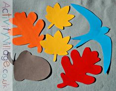 Some of our autumn templates cut from colourful card and paper Autumn Activities For Kids, Christmas Words, Christmas Templates, Autumn Crafts, Colored Paper, Color Card, Autumn Inspiration, To My Daughter, Arts And Crafts