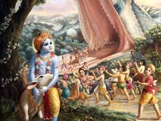 Krishna Lilas - The Nectarian Pastimes of the Sweet Lord Hare Krishna, Krishna Lila, Krishna Radha, Indian Gods, Indian Art, Krishna Birth, Lord Krishna Images, Krishna Pictures, Leelah