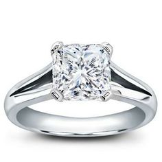 Would LOVE this ring!  Split Shank Solitaire for Square Diamond - R2928