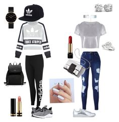 """""""Sans titre #58"""" by ness-11 on Polyvore featuring mode, adidas Originals, adidas, Related, Accessorize, Lancôme, Gucci et CLUSE"""