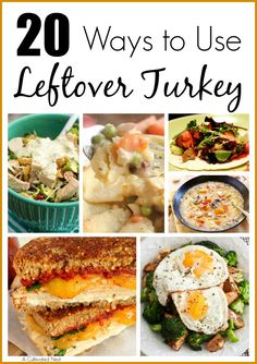 20 Ways To Use Leftover Turkey - Can't figure out what to do with all that leftover turkey? Or maybe you're looking for something a little different than regular turkey sandwiches? So skip the sandwic (What To Do With A Rotisserie Chicken) Leftover Turkey Recipes, Leftovers Recipes, Dinner Recipes, Turkey Leftovers, Turkey Soup, Tom Turkey, Turkey Time, Turkey Dishes, Delicious Recipes