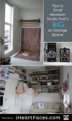 Tour a Small Newborn Studio that's BIG on Storage Space | Inspiring Photography Studio Series featured on iHeartFaces.com