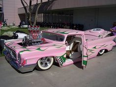 902183949-sema-show-pink-real-pimp-cars-smoking-hot-cool-exotic-cars-rims~ somebody is in Love with their car!!!  Not a pink car person, but this is cool
