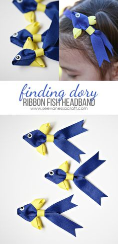 Craft: Finding Dory Ribbon Fish Headband Tutorial - Cute DIY hair accessory!