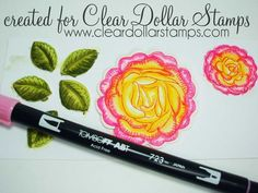Coloring a flower w/ Tombow markers