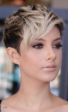 Pixie Haircut Styles, Short Pixie Haircuts, Pixie Styles, Undercut Pixie Haircut, Very Short Pixie Cuts, Curly Short, Bob Haircuts, Short Undercut Hairstyles, Short Hair Cuts For Women Pixie