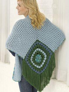 Center Square Shawl   Yarn   Free Knitting Patterns   Crochet Patterns   Yarnspirations