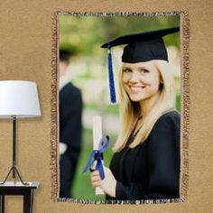 Graduation Photo Tapestry Throw Blanket  $59.98