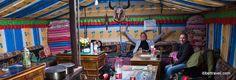 tent hostel at everest base camp