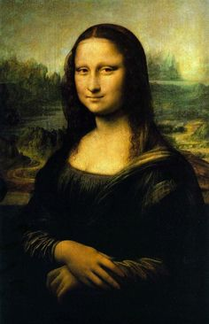 Here's the original Mona Lisa, as we know her: