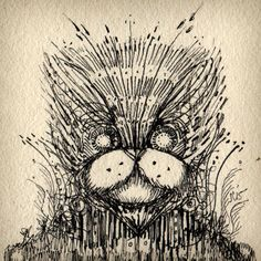 'Cat' - illustration by Oakland, California-based artist Jon Carling (via the artist's Tumblr)