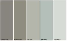 Benjamin Moore colors: especially love Beach Glass