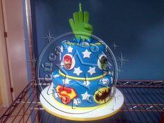bolo-decorado-super-herois/super heroes cake