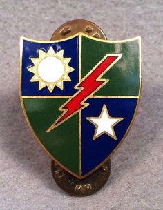 US Army 75th Infantry Regiment DUI Susco CB DI Pin Badge Unit Crest 127V