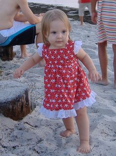 Baby Lace Wing Sleeve Sundress by debbisdresses on Etsy, $35.00