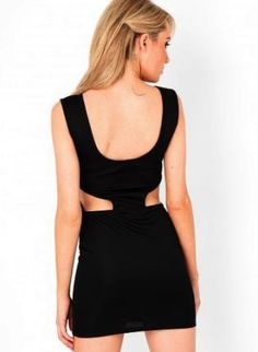 Black Cut out Backless Feature dress,  Dress, Cut out dress, Chic